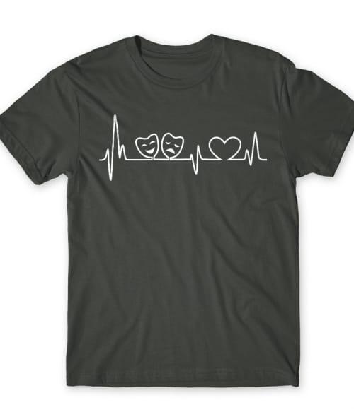 Theatre heartbeat Póló - Ha Theatre rajongó ezeket a pólókat tuti imádni fogod!