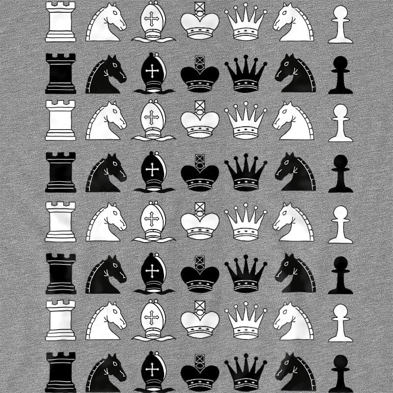 Chess Pieces Póló - Ha Chess rajongó ezeket a pólókat tuti imádni fogod!