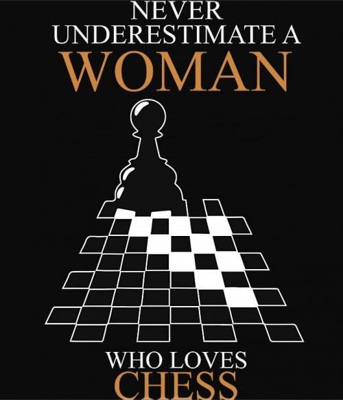 A Woman who loves chess Póló - Ha Chess rajongó ezeket a pólókat tuti imádni fogod!
