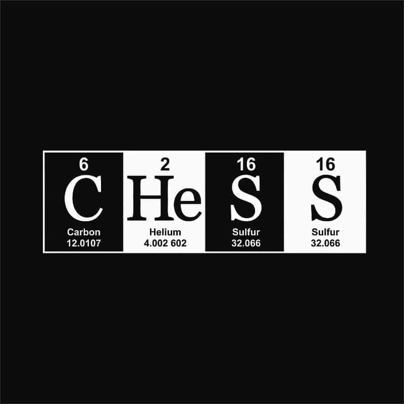 Periodic Chess Póló - Ha Chess rajongó ezeket a pólókat tuti imádni fogod!