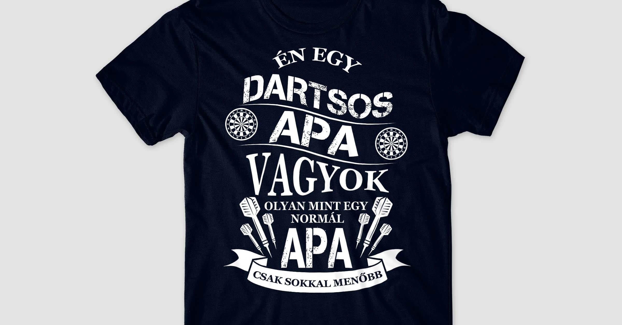 Dartsos Apa Póló - Darts cb77202ea2