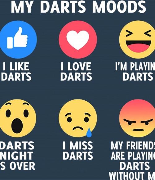 My Darts Moods Póló - Ha Darts rajongó ezeket a pólókat tuti imádni fogod!