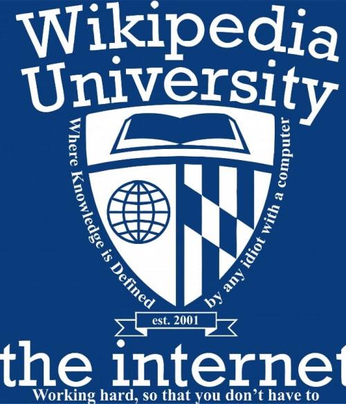 Wikipedia University Póló - Ha Study rajongó ezeket a pólókat tuti imádni fogod!