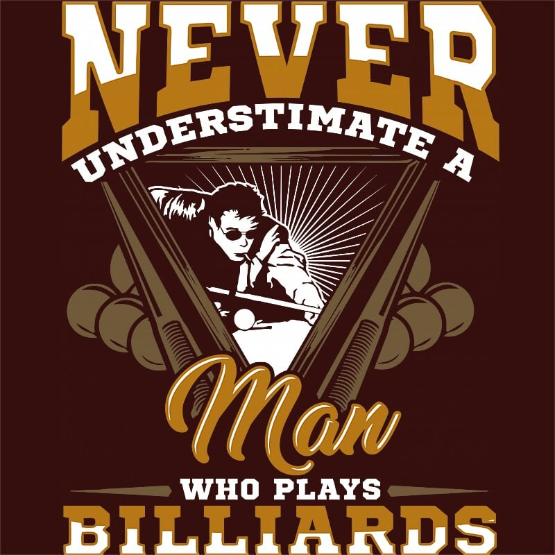 Man who love plays billiard Póló - Ha Billiard rajongó ezeket a pólókat tuti imádni fogod!