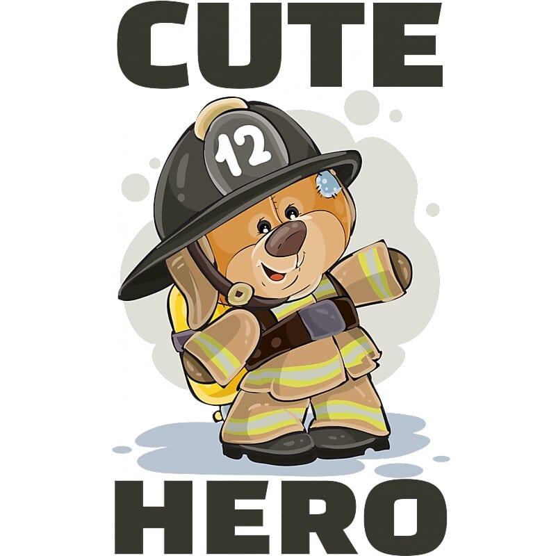 Cute hero Póló - Ha Firefighter rajongó ezeket a pólókat tuti imádni fogod!