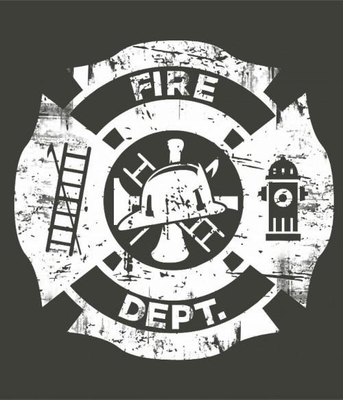 Fire dept Póló - Ha Firefighter rajongó ezeket a pólókat tuti imádni fogod!