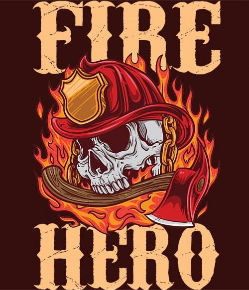 Fire hero Póló - Ha Firefighter rajongó ezeket a pólókat tuti imádni fogod!