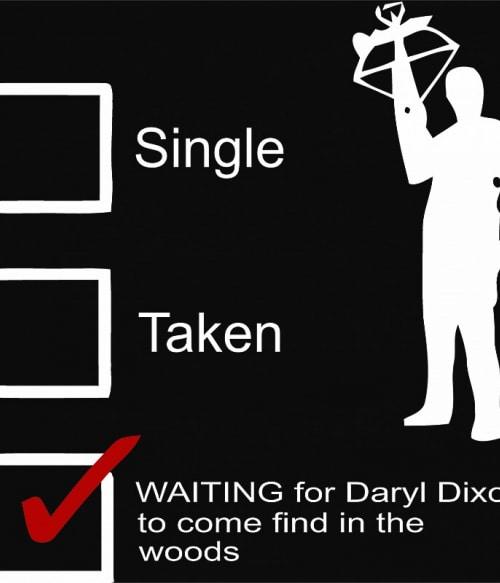 Darylre várok Póló - Ha The Walking Dead rajongó ezeket a pólókat tuti imádni fogod!