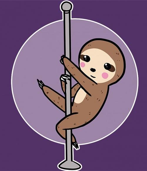 Pole sloth Póló - Ha Pole Dance rajongó ezeket a pólókat tuti imádni fogod!