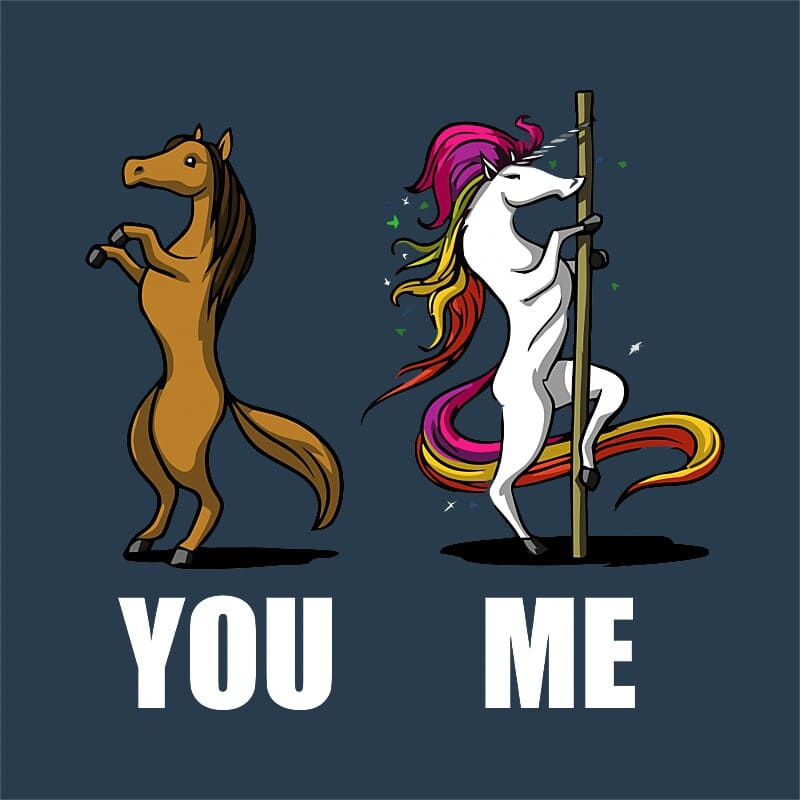 Pole unicorn Póló - Ha Pole Dance rajongó ezeket a pólókat tuti imádni fogod!