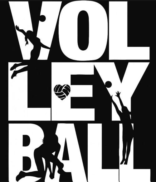 Volley silhouettes Póló - Ha Volleyball rajongó ezeket a pólókat tuti imádni fogod!