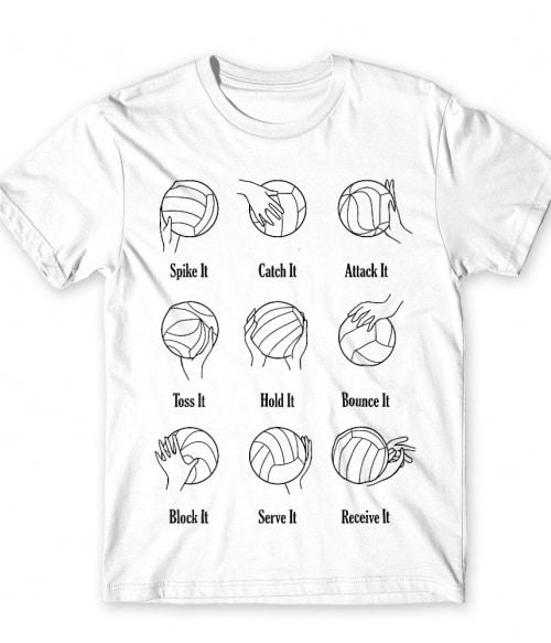 Volleyball actions Póló - Ha Volleyball rajongó ezeket a pólókat tuti imádni fogod!