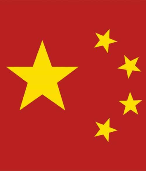 China flag stars Póló - Ha China rajongó ezeket a pólókat tuti imádni fogod!