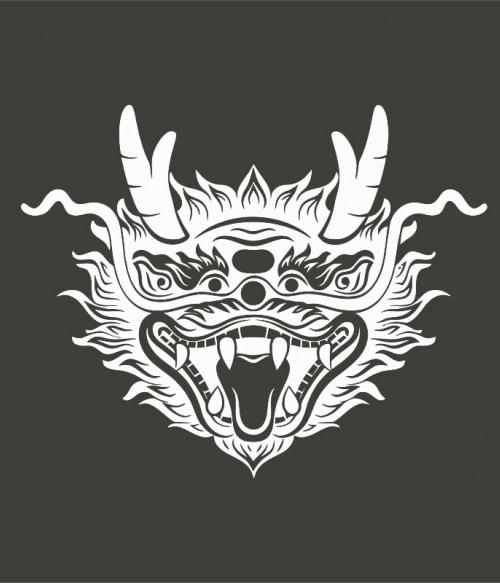 Chinese dragon head Póló - Ha China rajongó ezeket a pólókat tuti imádni fogod!