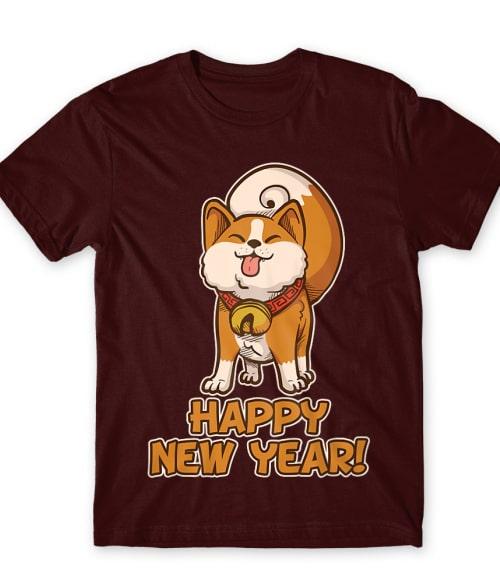 Happy new year dog Póló - Ha China rajongó ezeket a pólókat tuti imádni fogod!