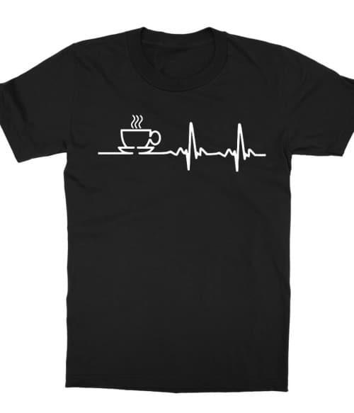 Coffee heartbeat Póló - Ha Coffee rajongó ezeket a pólókat tuti imádni fogod!