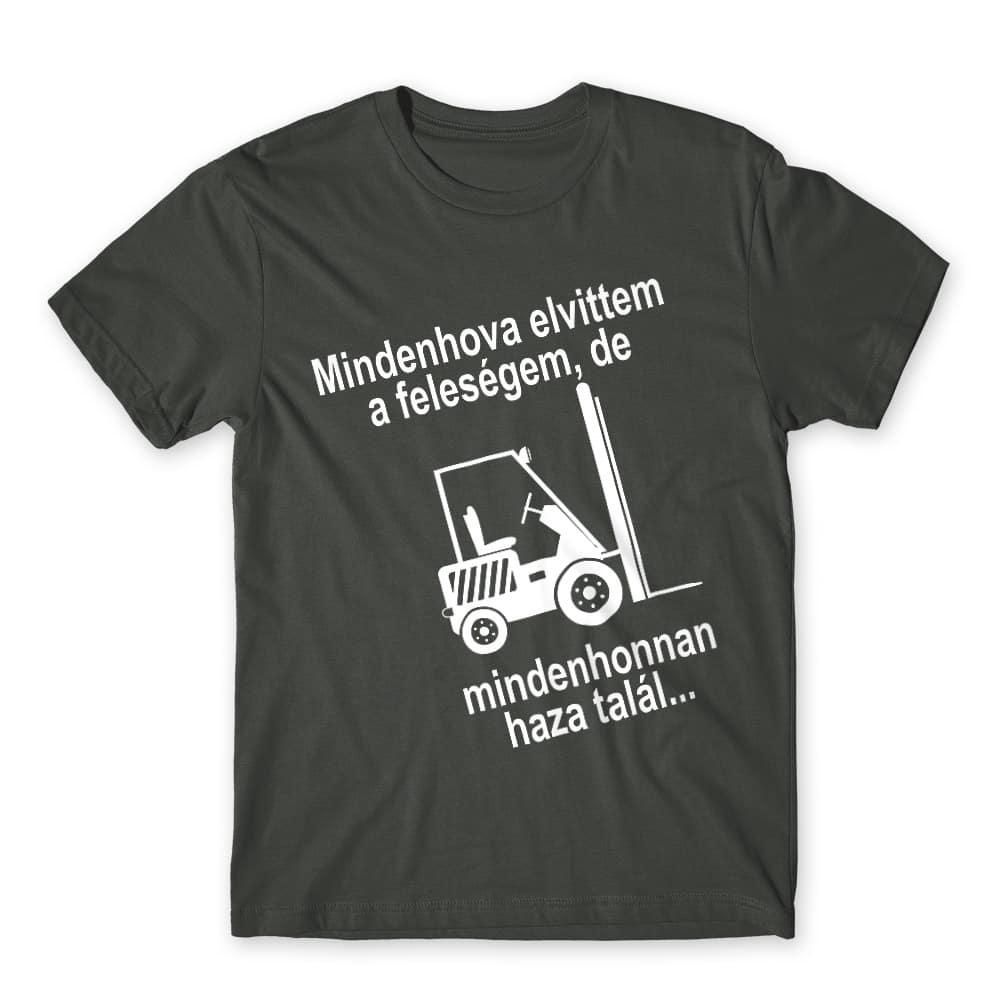 Mindenhova elvittem a feleségem Póló - Ha Forklift Driver rajongó ezeket a pólókat tuti imádni fogod!
