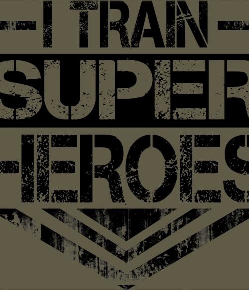 I Train Super Heroes Póló - Ha Personal Trainer rajongó ezeket a pólókat tuti imádni fogod!