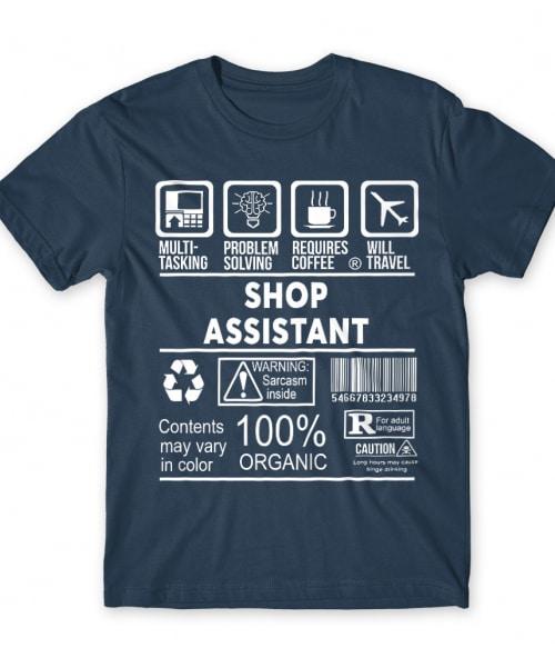 Shop assistant infographic Póló - Ha Shop Assistant rajongó ezeket a pólókat tuti imádni fogod!