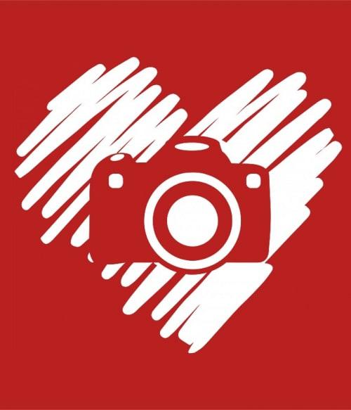 Camera doodle heart Póló - Ha Photography rajongó ezeket a pólókat tuti imádni fogod!