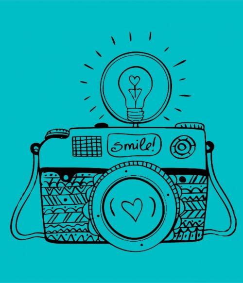 Smile camera Póló - Ha Photography rajongó ezeket a pólókat tuti imádni fogod!