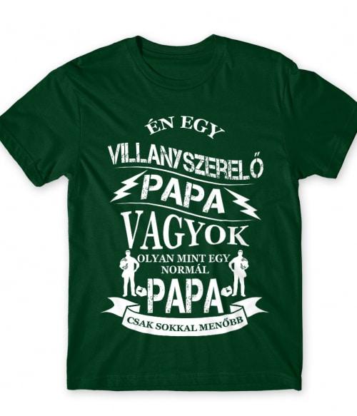 Villanyszerelő papa Póló - Ha Electrician rajongó ezeket a pólókat tuti imádni fogod!