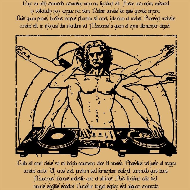 Da Vinci DJ Póló - Ha DJ rajongó ezeket a pólókat tuti imádni fogod!