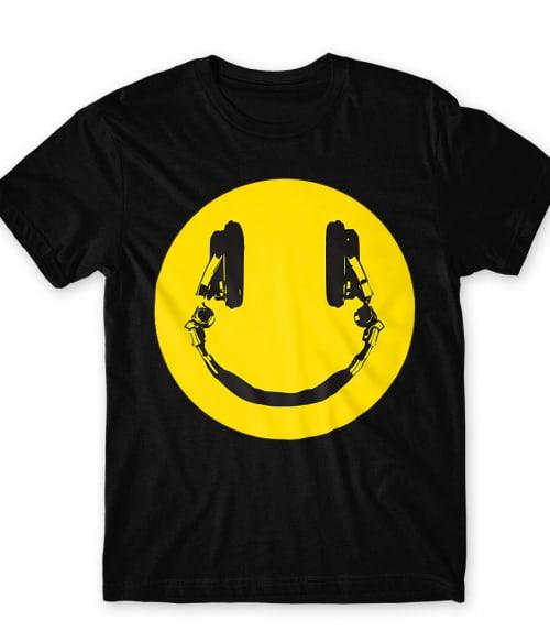 Headphone smiley Póló - Ha DJ rajongó ezeket a pólókat tuti imádni fogod!
