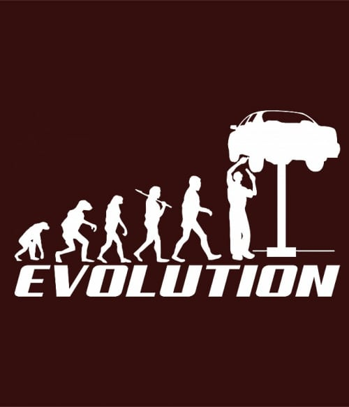 Car Mechanic Evolution Póló - Ha Car Mechanic rajongó ezeket a pólókat tuti imádni fogod!