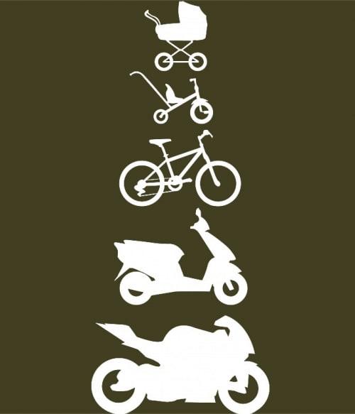 Baby Biker Evolution Póló - Ha Motorcycle rajongó ezeket a pólókat tuti imádni fogod!