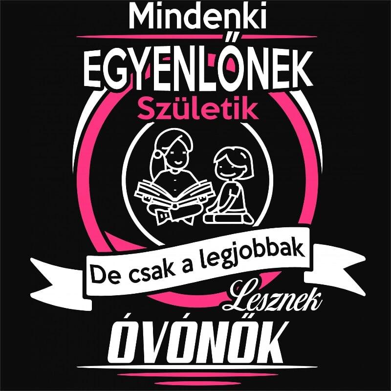 Mindenki egyenlő - óvónő Póló - Ha Kindergarten Teacher rajongó ezeket a pólókat tuti imádni fogod!