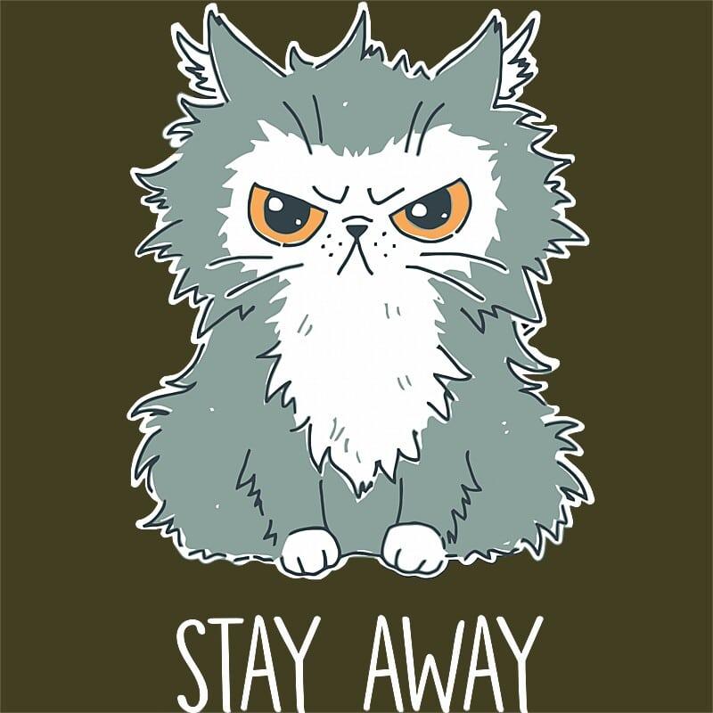 Stay away cat Póló - Ha Cat rajongó ezeket a pólókat tuti imádni fogod!