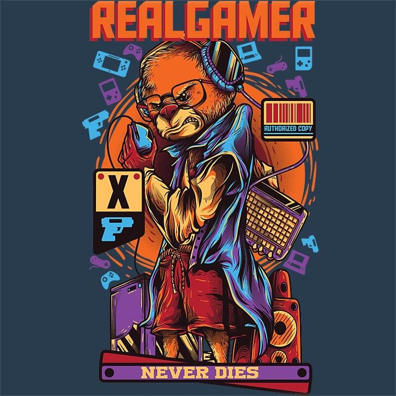 Real gamer never dies Póló - Ha Gamer rajongó ezeket a pólókat tuti imádni fogod!
