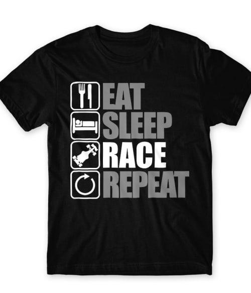 Eat Sleep Race Repeat Póló - Ha Formula 1 rajongó ezeket a pólókat tuti imádni fogod!