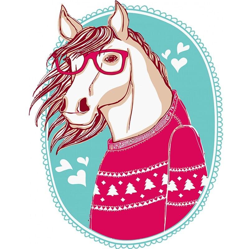 Hipster horse Póló - Ha Horse rajongó ezeket a pólókat tuti imádni fogod!