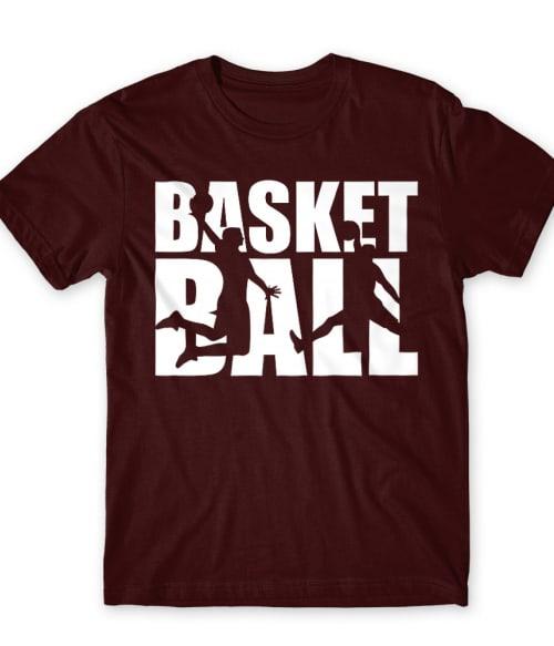 Basketball Silhouette Text Póló - Ha Basketball rajongó ezeket a pólókat tuti imádni fogod!