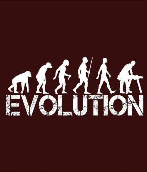 Asztalos evolúció Póló - Ha Carpenter rajongó ezeket a pólókat tuti imádni fogod!