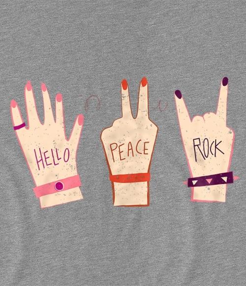 Hello Peace Rock Póló - Ha Rocker rajongó ezeket a pólókat tuti imádni fogod!