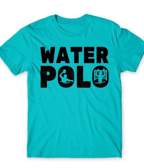 Water Polo Text Silhouette Póló - Ha Rocker rajongó ezeket a pólókat tuti imádni fogod!