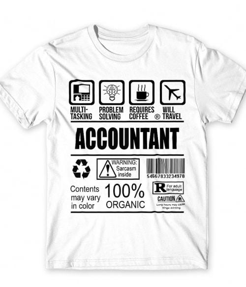Accountant facts Póló - Ha Accountant rajongó ezeket a pólókat tuti imádni fogod!