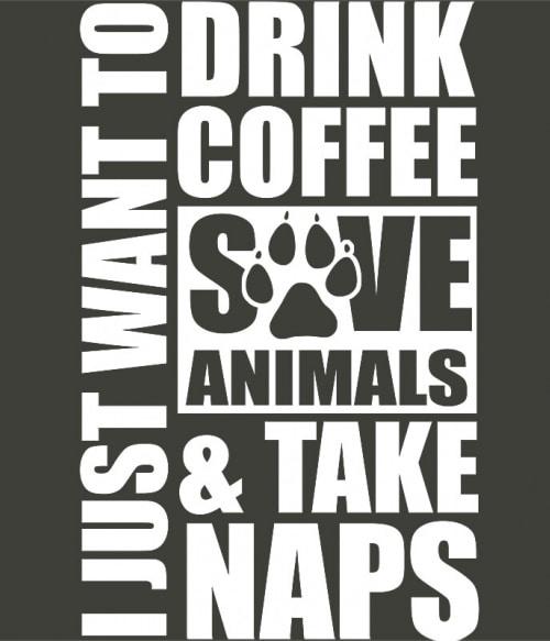 Drink coffee and save animals Póló - Ha Veterinary rajongó ezeket a pólókat tuti imádni fogod!