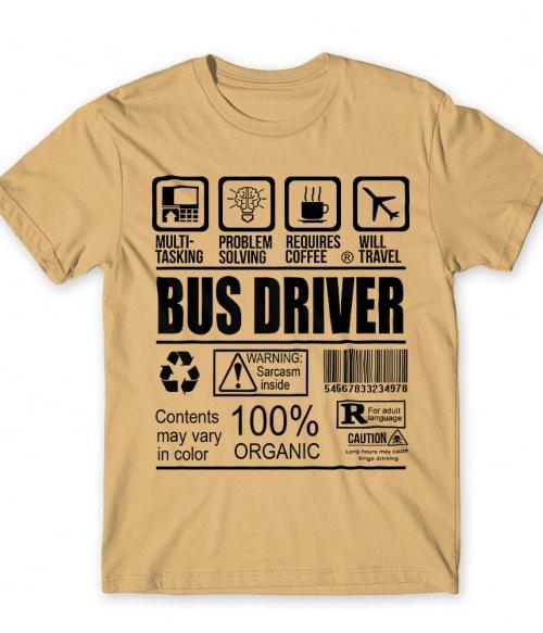 Bus Driver Facts Póló - Ha Bus Driver rajongó ezeket a pólókat tuti imádni fogod!