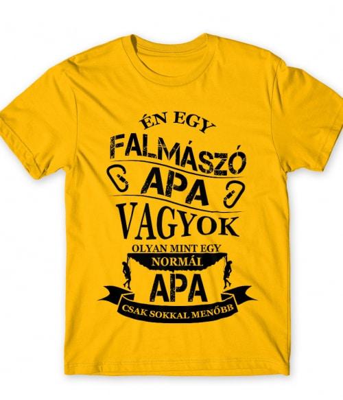 Falmászó apa Póló - Ha Climbing rajongó ezeket a pólókat tuti imádni fogod!