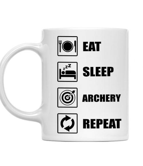 Eat sleep repeat archery Póló - Ha Archery rajongó ezeket a pólókat tuti imádni fogod!