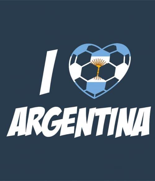 Football Love Argentina Póló - Ha Football rajongó ezeket a pólókat tuti imádni fogod!