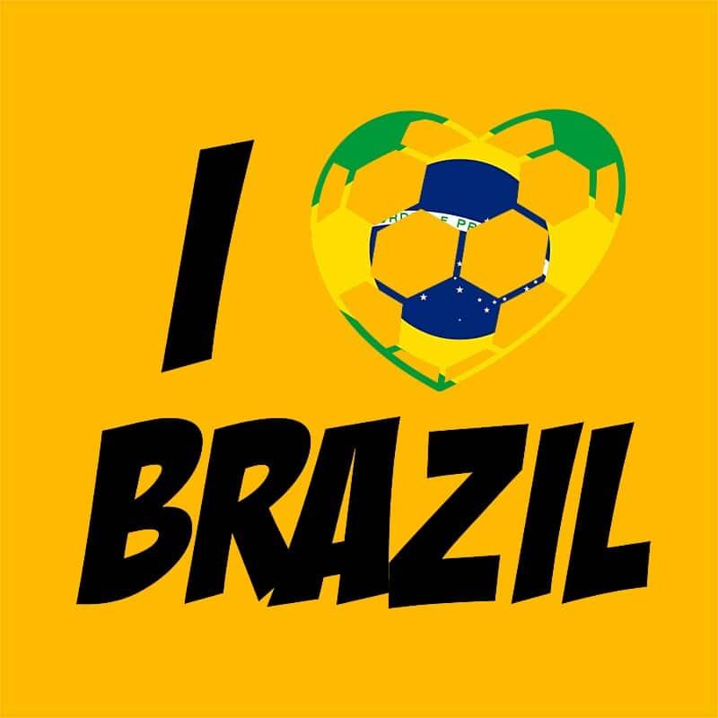 Football Love Brazil Póló - Ha Football rajongó ezeket a pólókat tuti imádni fogod!