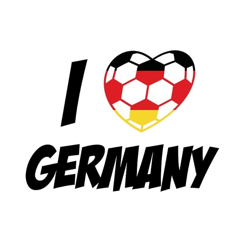 Football Love Germany Póló - Ha Football rajongó ezeket a pólókat tuti imádni fogod!