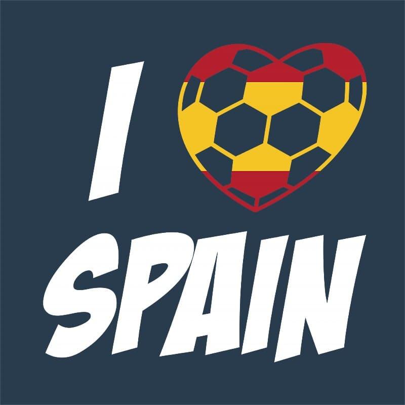 Football Love Spain Póló - Ha Football rajongó ezeket a pólókat tuti imádni fogod!
