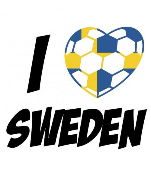 Football Love Sweden Póló - Ha Football rajongó ezeket a pólókat tuti imádni fogod!