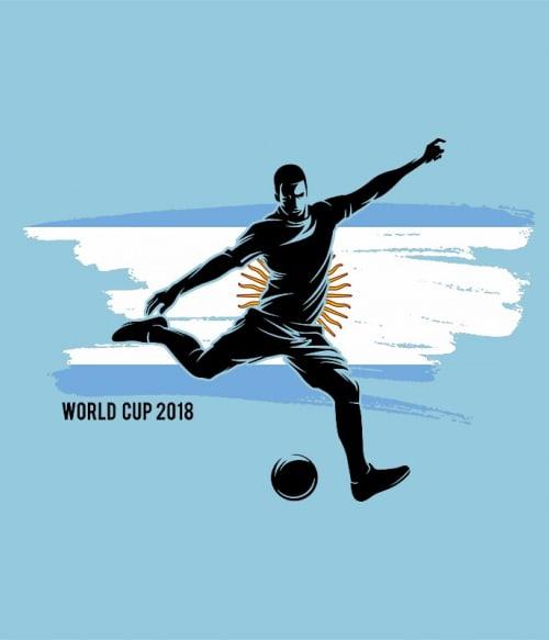 World Cup Flag Player Argentina Póló - Ha Football rajongó ezeket a pólókat tuti imádni fogod!